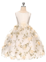 """Бальное платье для девочки """"Монпансье"""" Молочное 354"""