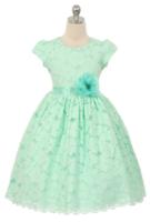 """Детское платье для девочки """"Вдохновение"""" Бирюзовое 3554"""