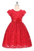 """Детское платье для девочки """"Вдохновение"""" Красное 3554"""