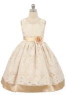"""Детское платье для девочки """"Беатрис"""" Шампань 3556"""