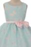 """Нарядное платье для девочки """"Мотылек"""" Голубое 382"""