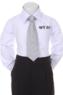 Детский галстук для мальчика Белый WT-03