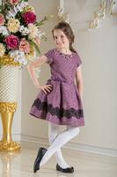 Нарядное платье для девочки Фабиана Фиолетовое 0113