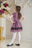 """Нарядное платье для девочки """"Фабиана"""" Фиолетовое 0113"""