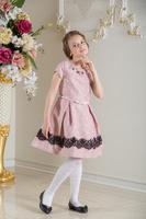 Нарядное платье для девочки Фабиана Нежно-розовый 0112