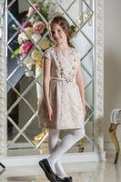 """Нарядное платье для девочки """"Француаза"""" Шампань 0115"""