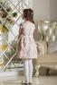 """Нарядное платье для девочки """"Франсуаза"""" Шампань 0115"""