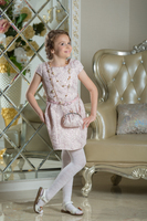 Нарядное платье для девочки Франсуаза Нежно-розовый 0114