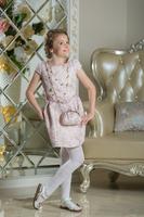 """Нарядное платье для девочки """"Француаза"""" Нежно-розовый 0114"""
