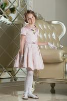"""Нарядное платье для девочки """"Беатрис"""" Нежно-розовый 0111"""