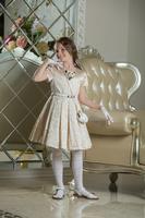 """Нарядное платье для девочки """"Беатрис"""" Шампань 0110"""