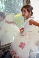 Детское платье с  Лепестками Чайной Розы  KD-160
