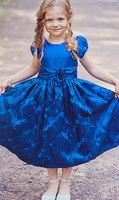 """Платье для девочки """"Диамант"""" Синее SK 337"""