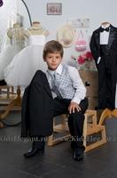 """Костюм """"Классический"""" для мальчика с серебряной жилеткой KD-5006"""