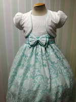 Нарядное платье для девочки Валенсия Бирюзовое 16955