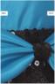 """Детское платье """"Монтана"""" Голубое с черным поясом 6337 KK"""