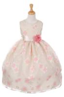 """Нарядное платье для девочки """"Анютка"""" Шампань 6339 KK"""