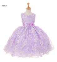 """Нарядное платье для девочки """"Анютка"""" Лавандовое 6339 KK"""