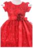 """Платье для девочки """"Баронесса"""" Красное 6356 KK"""