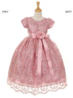 Нарядное платье для девочки Баронесса Розовое 6356 KK