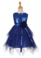 """Платье для девочки """"Вьюга"""" Синее 6370 KK"""