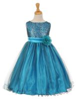 """Платье для девочки """"Сказка"""" Голубое 6371 KK"""