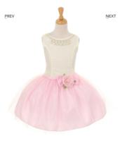 Нарядное платье для девочки Жозефина Розовое 6363 KK