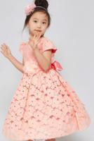 """Детское платье для девочки """"Вдохновение"""" Коралловое 3554"""