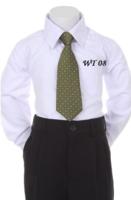 Детский галстук для мальчика Зеленый WT-08