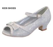 Нарядные туфли для девочки Серебряные ANDREA-2K