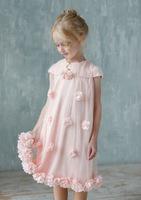 Нарядное платье для девочки Лурдес Розовое 9612134