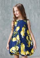 """Платье для девочки из хлопка """"Тюльпан в лимонах"""" 9612144"""