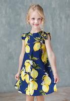 """Платье для девочки из хлопка """"Лимоны""""  9612168"""