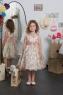 """Детское платье для девочки """"Цветочное"""" розовое KD-199"""