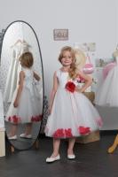 Детское платье с Красными Лепестками Роз KD-160