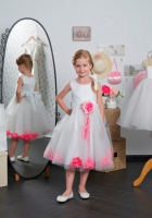 Детское платье с Малиновыми Лепестками роз  KD-160