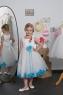 Детское платье с Голубыми Лепестками  KD-160