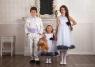 Детское платье с Черными Лепестками Роз KD-160