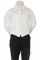 Детская жилетка с галстуком для мальчика Белая V-002