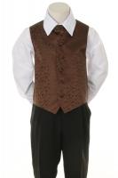 Детская жилетка с галстуком для мальчика Шоколадная V-002