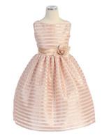 Детское платье в Атласную полоску SK 379