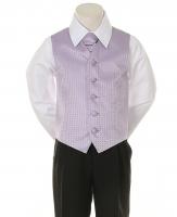 """Детская жилетка с галстуком для мальчика """"Точка"""" Лавандовая V-001"""