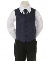 """Детская жилетка с галстуком для мальчика """"Точка"""" Синяя V-001"""
