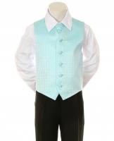 """Детская жилетка с галстуком для мальчика """"Точка"""" Бирюзовая V-001"""