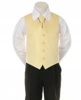 """Детская жилетка с галстуком для мальчика """"Точка"""" Золотая V-001"""