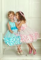 """Платье для девочки """"Спринк"""" Голубое KD-332"""