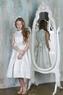 """Платье для девочки """"Хепбёрн"""" Серебряное 522"""