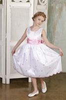 """Детское платье для девочки """"Горошинка"""" G 438"""