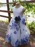 Детское платье с Синими Лепестками Роз KD-160
