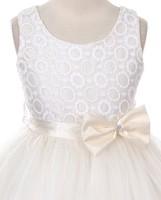 """Нарядное платье для девочки """"Мерелин"""" Молочное GG-3525"""